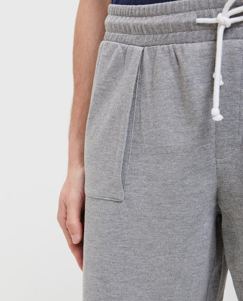 Pantaloncini in cotone uomo in tinta unita