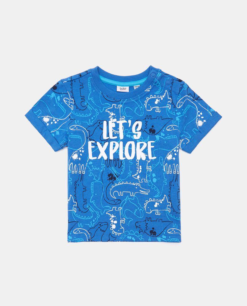 T-shirt stampata in cotone organico jersey neonato
