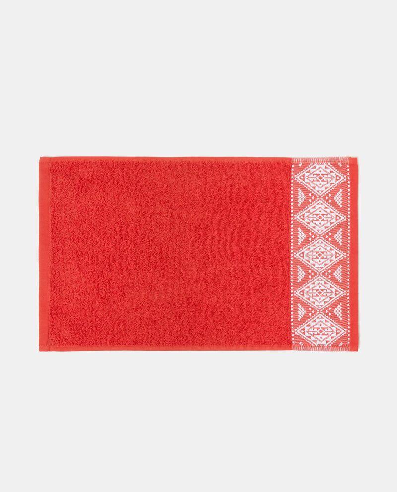Asciugamano cotone decoro rombi
