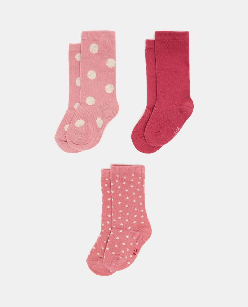 Pack con 3 paia di calzini lunghi cotone organico neonata cover