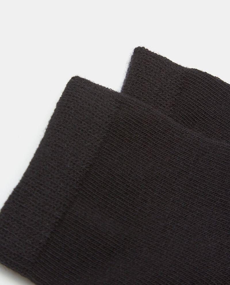 Set con cinque paia di calzini tinta unita in cotone elasticato bambino single tile 1