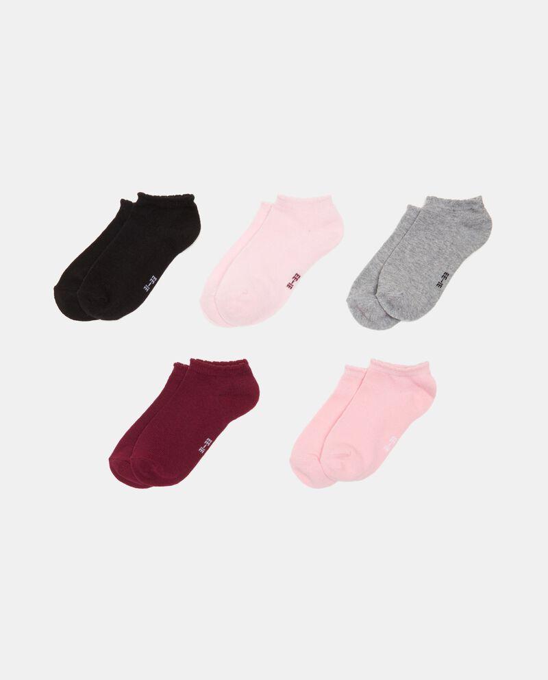 Pack di 5 calze in cotone organico bambina