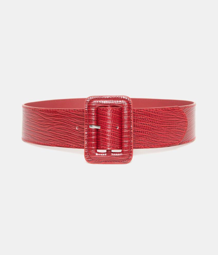 Cintura rossa tinta unita donna