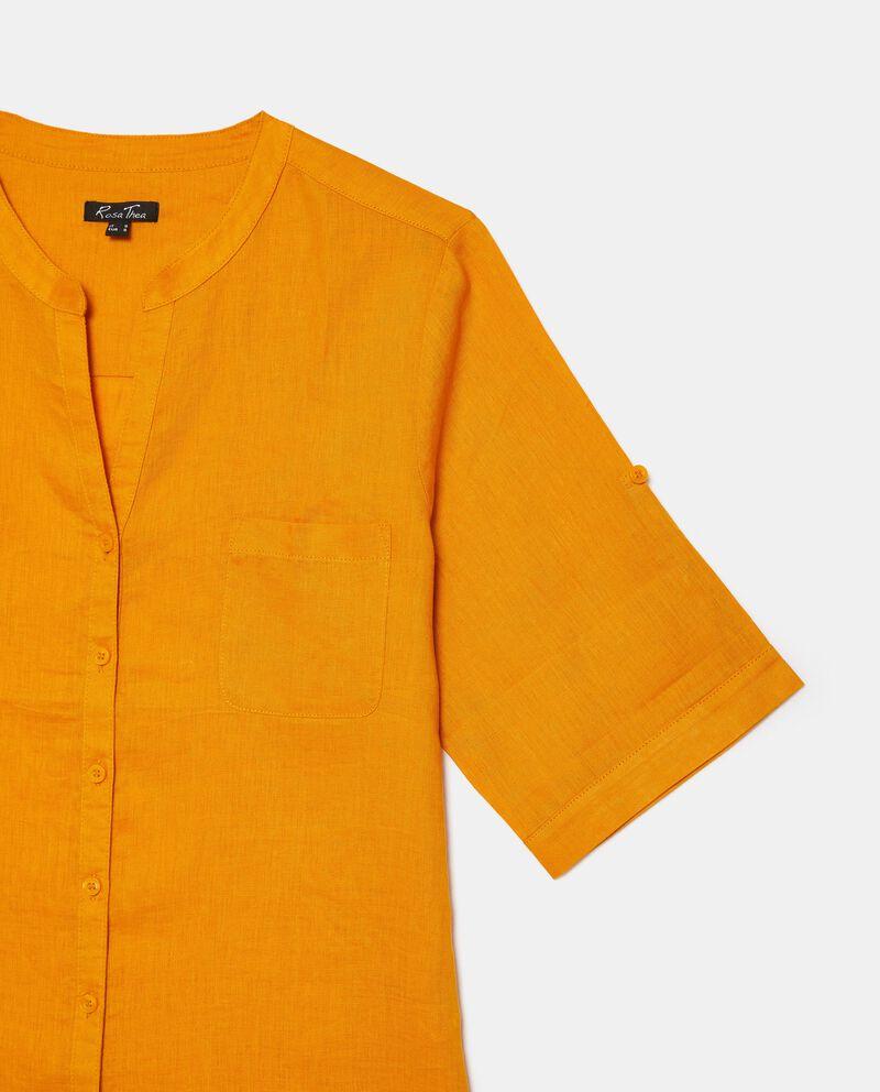 Camicia tinta unita in puro lino Curvy