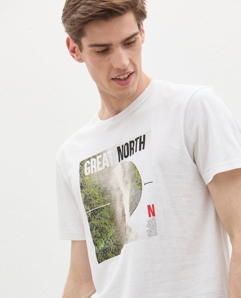 T-shirt in cotone organico con stampa fotografica uomo single tile 2