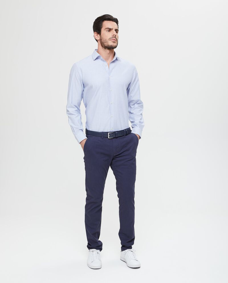 Pantaloni chino elasticizzati blu