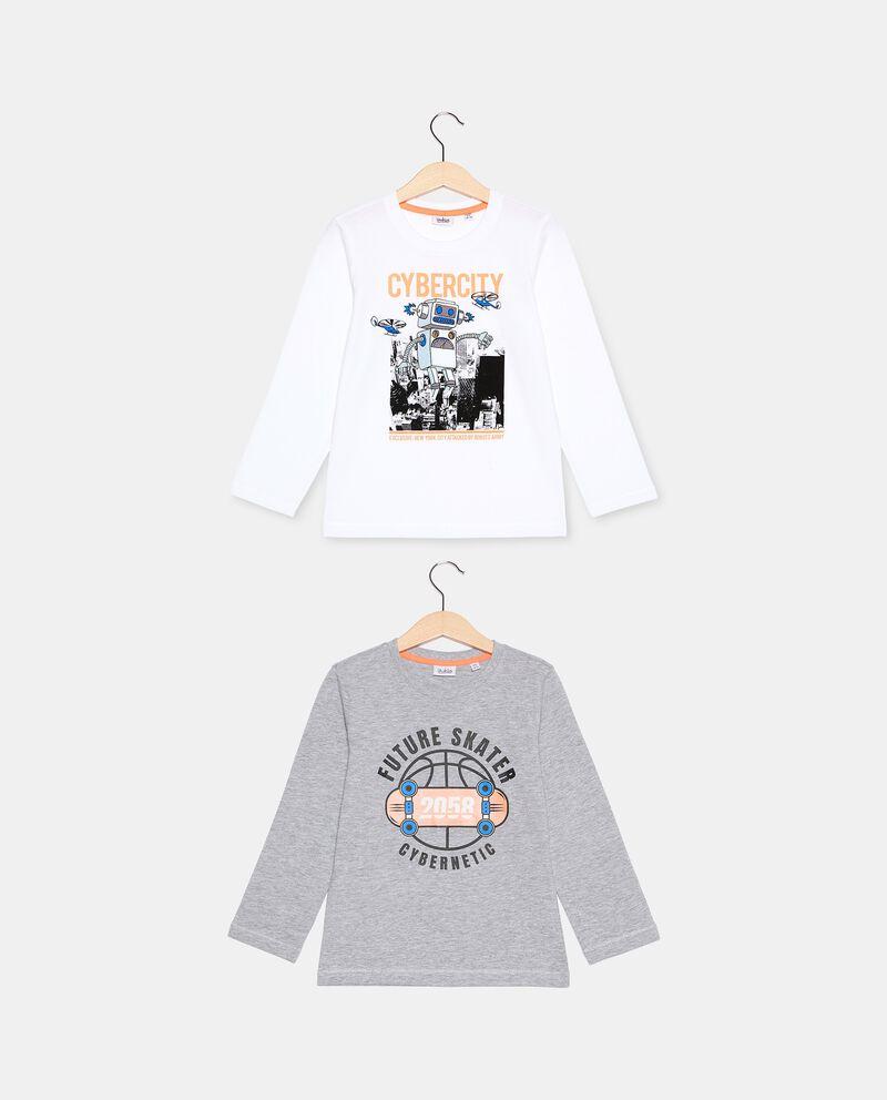 Pack di 2 t-shirt di cotone biologico bambino cover