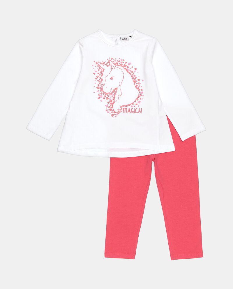Set jogging in cotone elasticato neonata