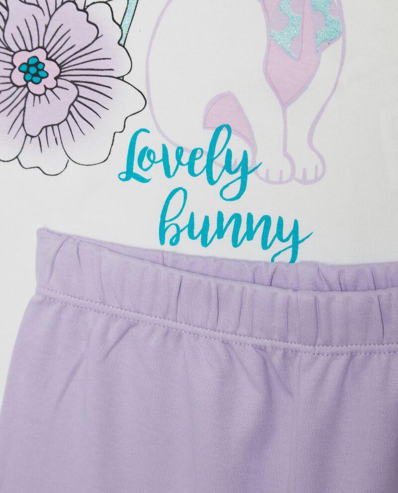 Set pigiama t-shirt e pantaloni tinta unita bambina