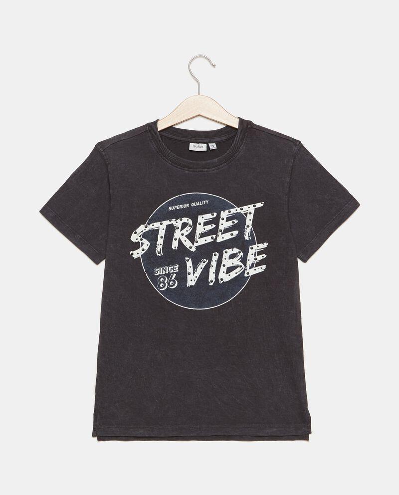 T-shirt puro cotone a maniche corte mélange ragazzo cover