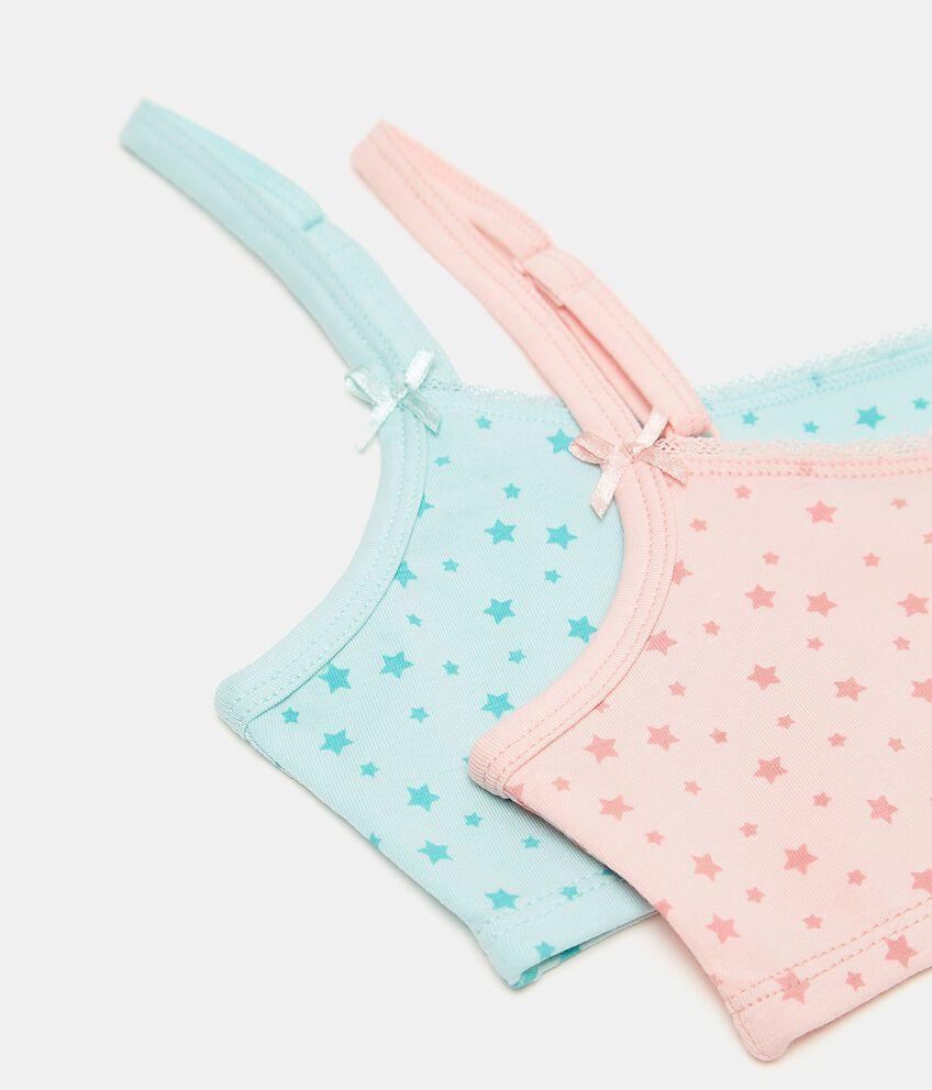Bipack top in cotone elasticizzato bambina