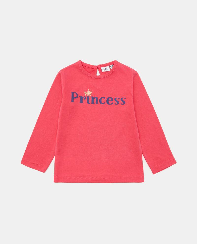 T-shirt con stampa in cotone neonata cover