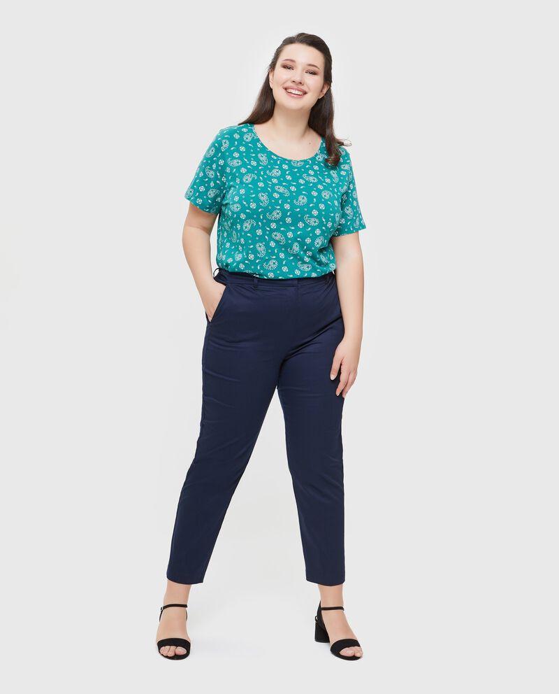Pantaloni chino in tinta unita Curvy donna