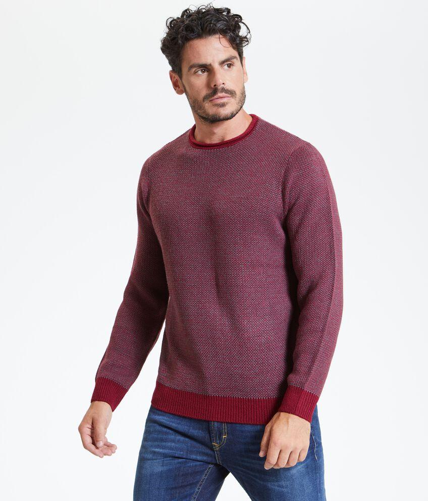 Pullover in jacquard uomo