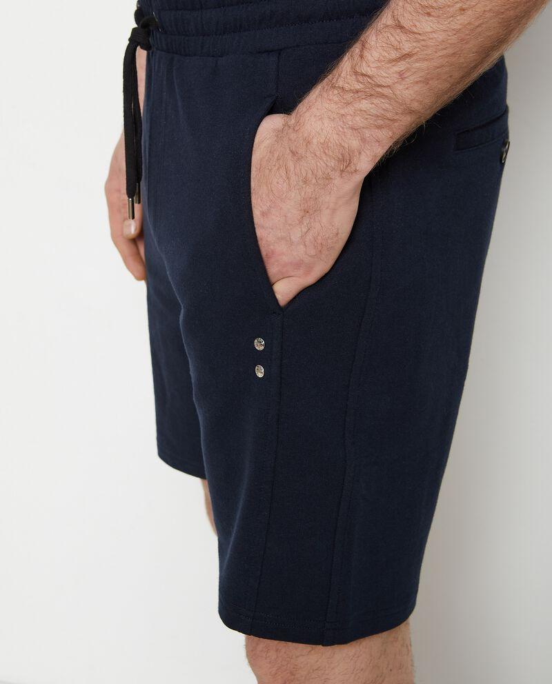 Pantaloncini joggers puro cotone single tile 2