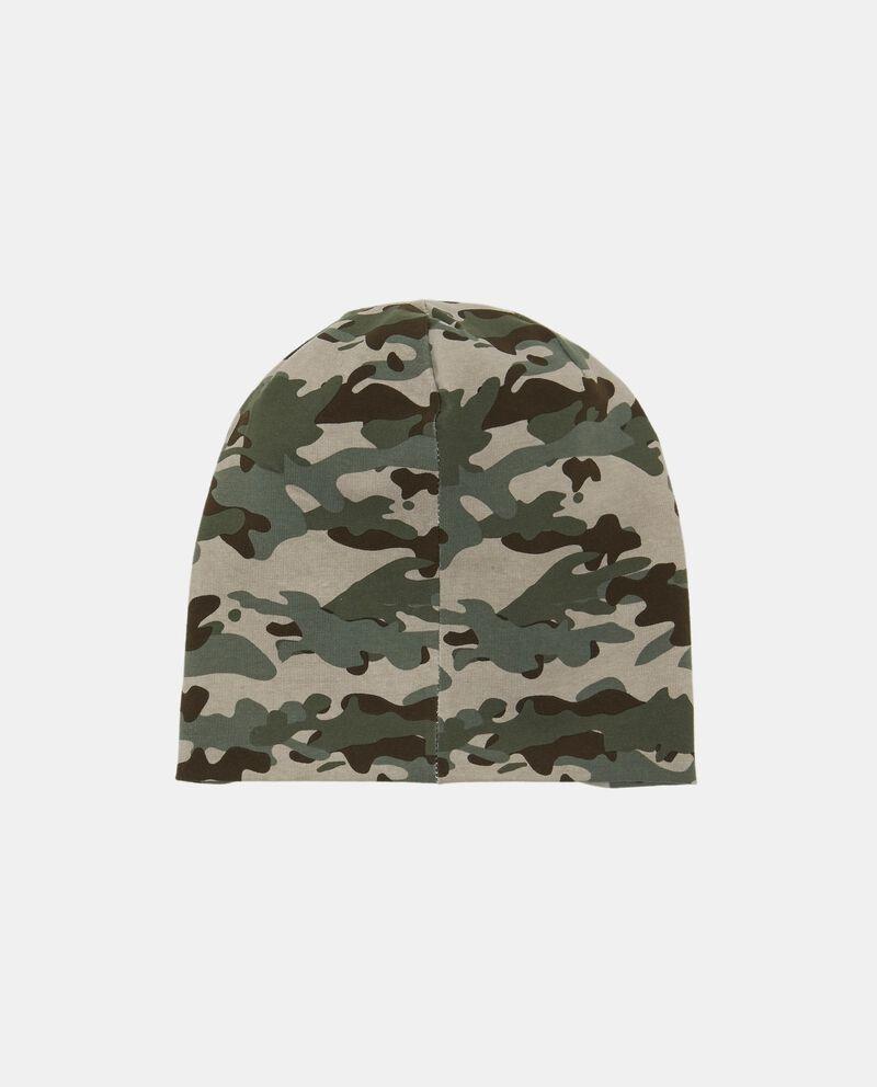 Berretto cotone fantasia camouflage