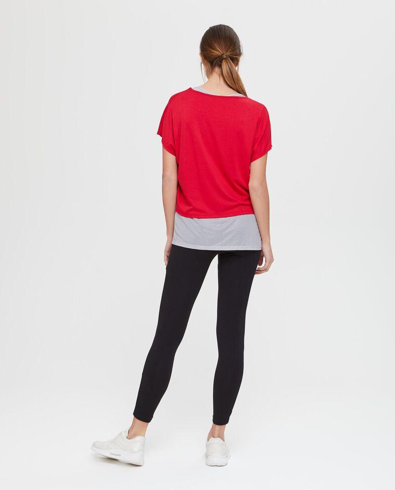 T-shirt e canotta in viscosa rossa Fitness