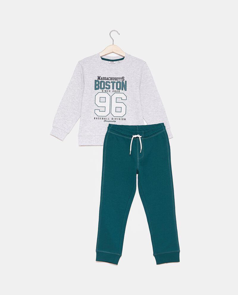 Set jogging con felpa e pantaloni bambino