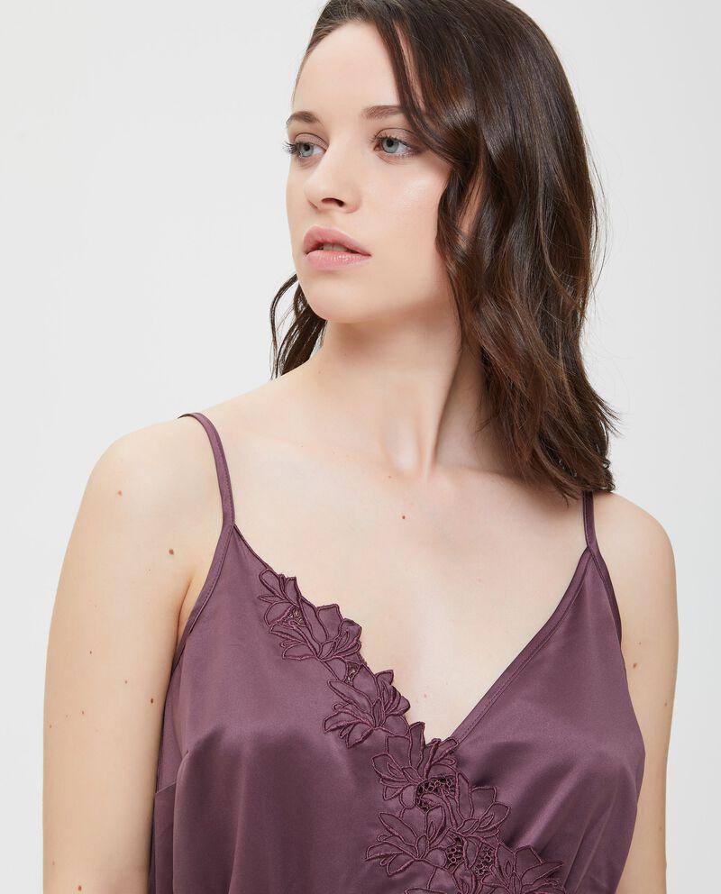 Top pigiama effetto satin viola donna