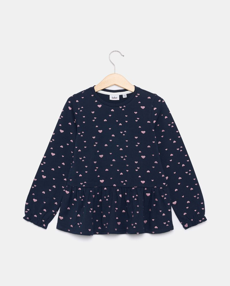T-shirt in jersey stretch in cotone organico bambina cover