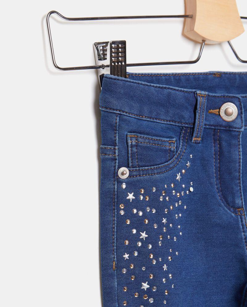 Jeans con strass applicati bambina single tile 1