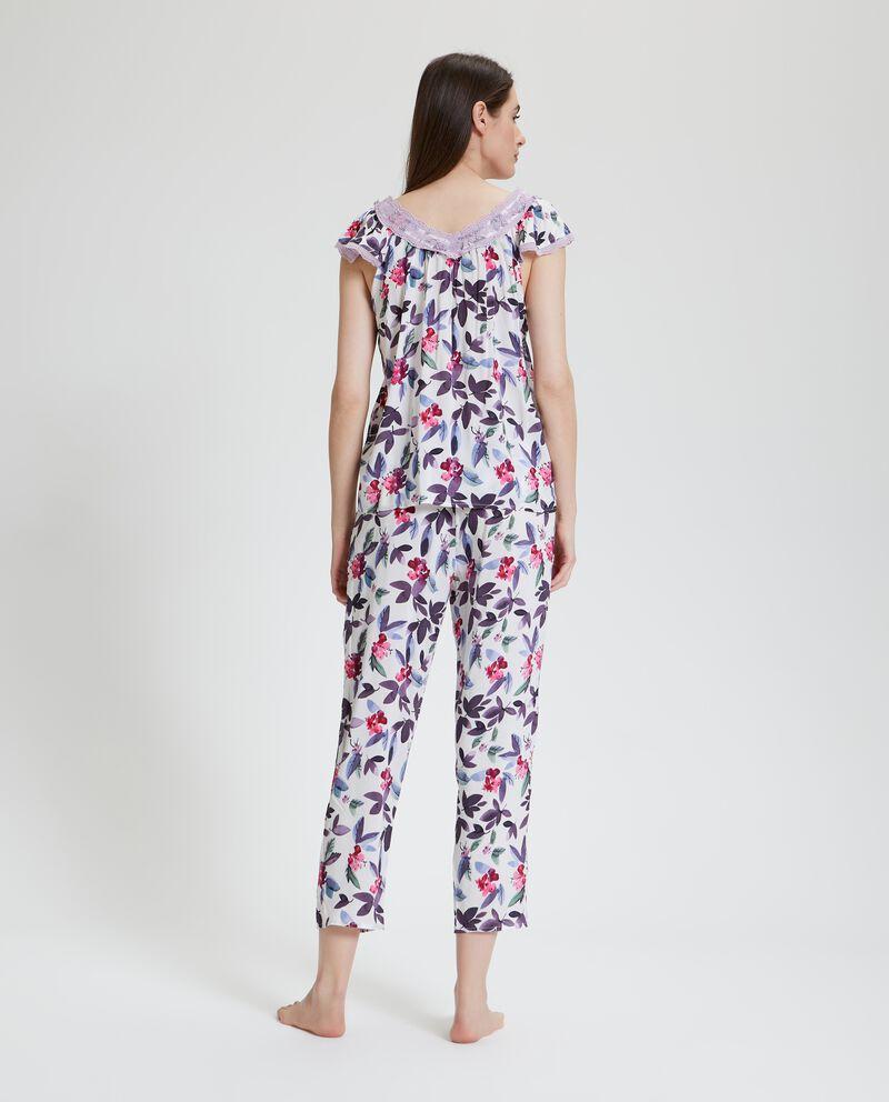 Top pigiama con fantasia floreale donna
