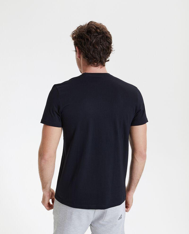 T-shirt in puro cotone con lettering uomo