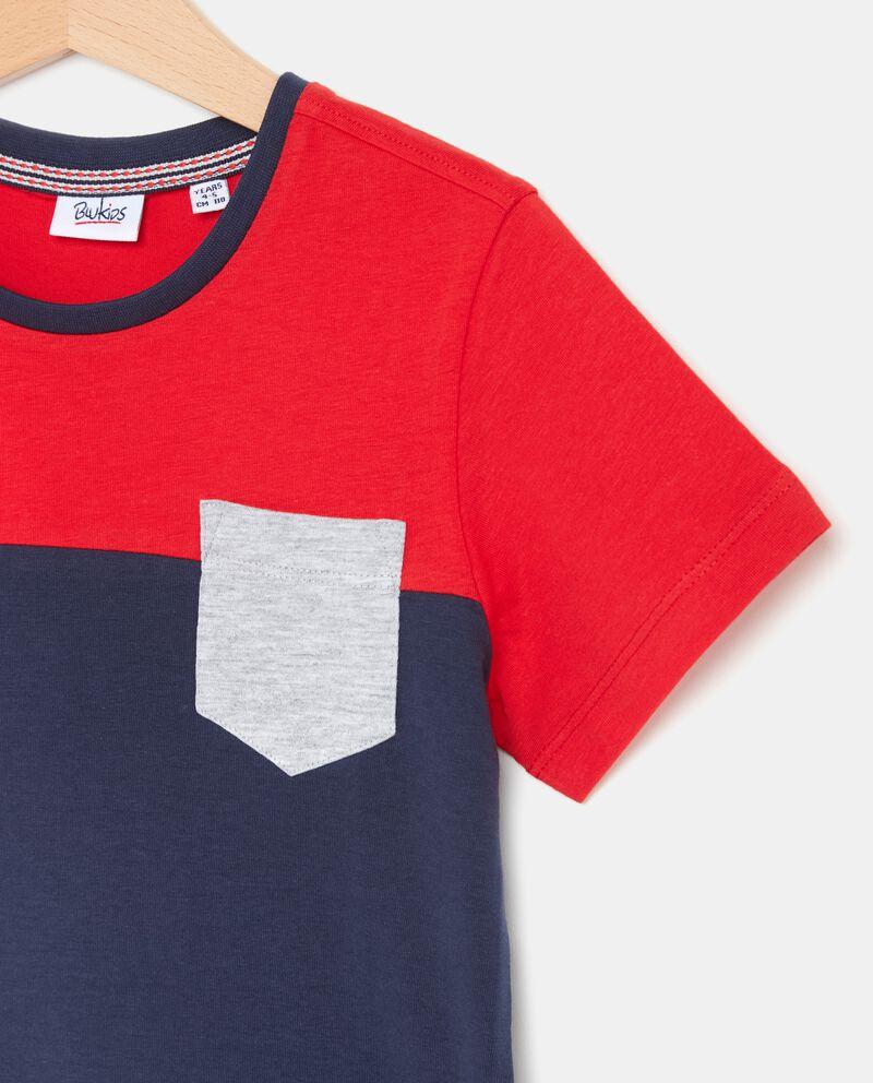 T-shirt in puro cotone con taschino