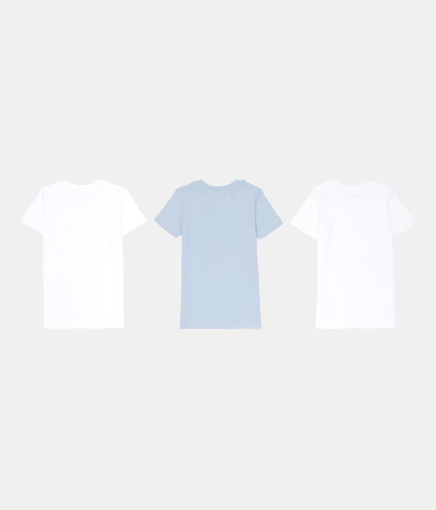 Set tre t-shirt intime tinta unita