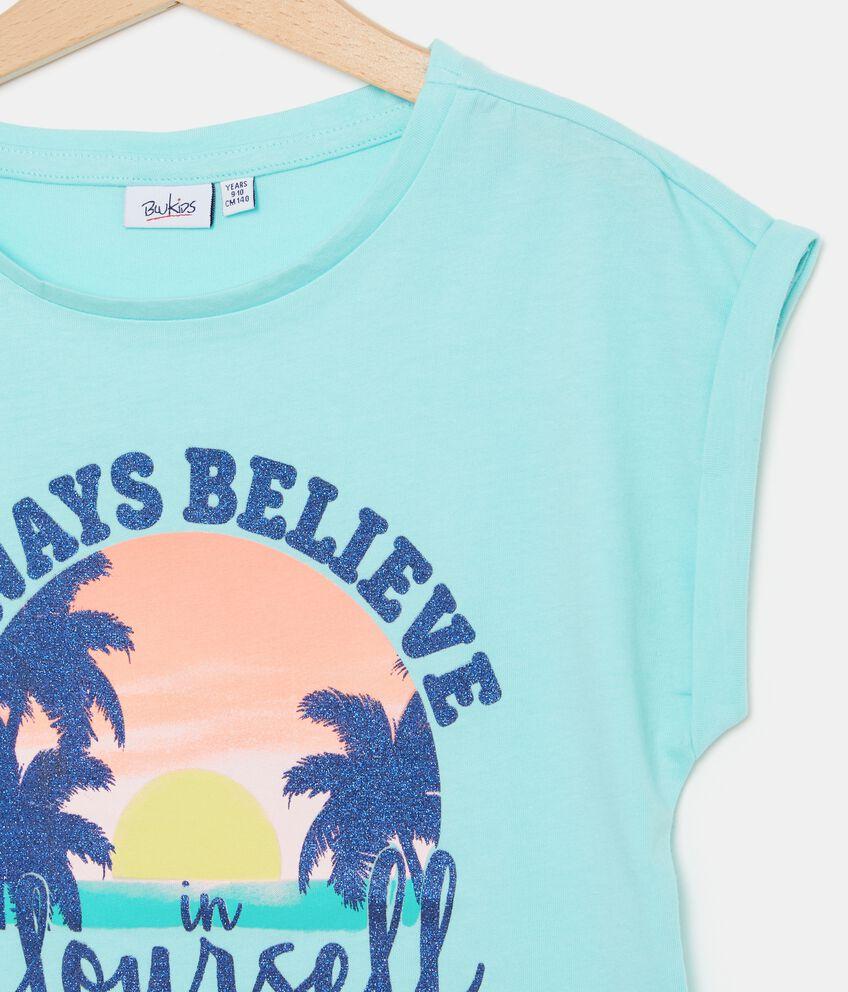 T-shirt con puro cotone stampata ragazza