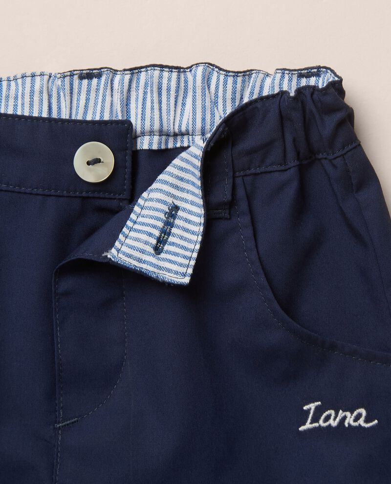 Pantaloni in popeline di cotone MADE IN ITALY