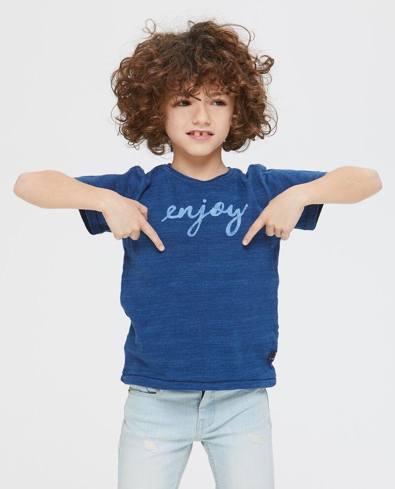 T-shirt a manica corta effetto denim