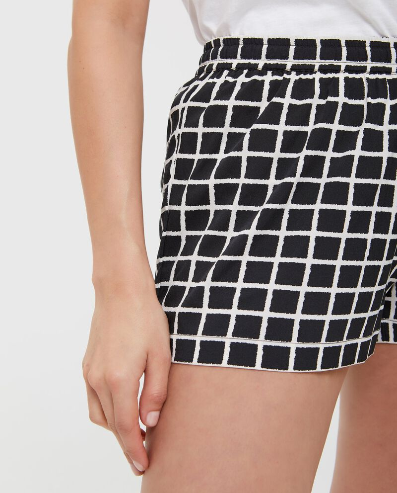 Pantaloncini con fantasia a quadri donna