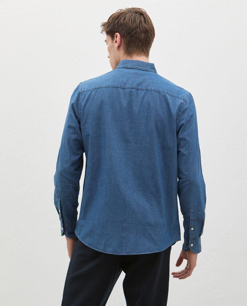 Camicia denim in puro cotone uomo single tile 1