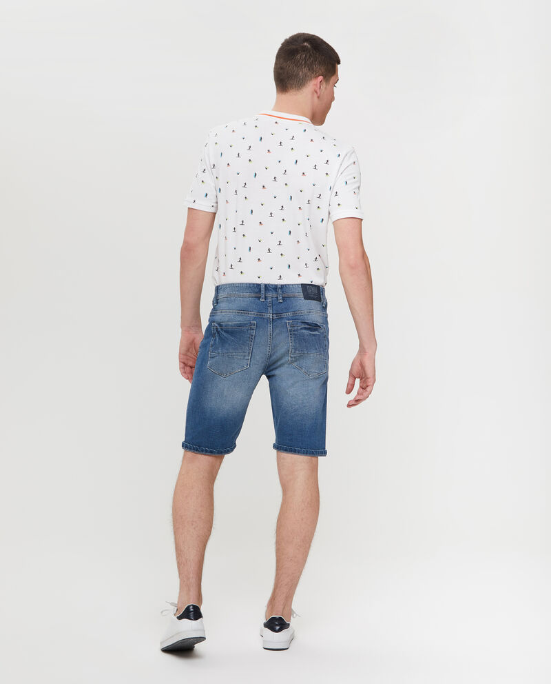 Shorts in denim slim fit con tasche