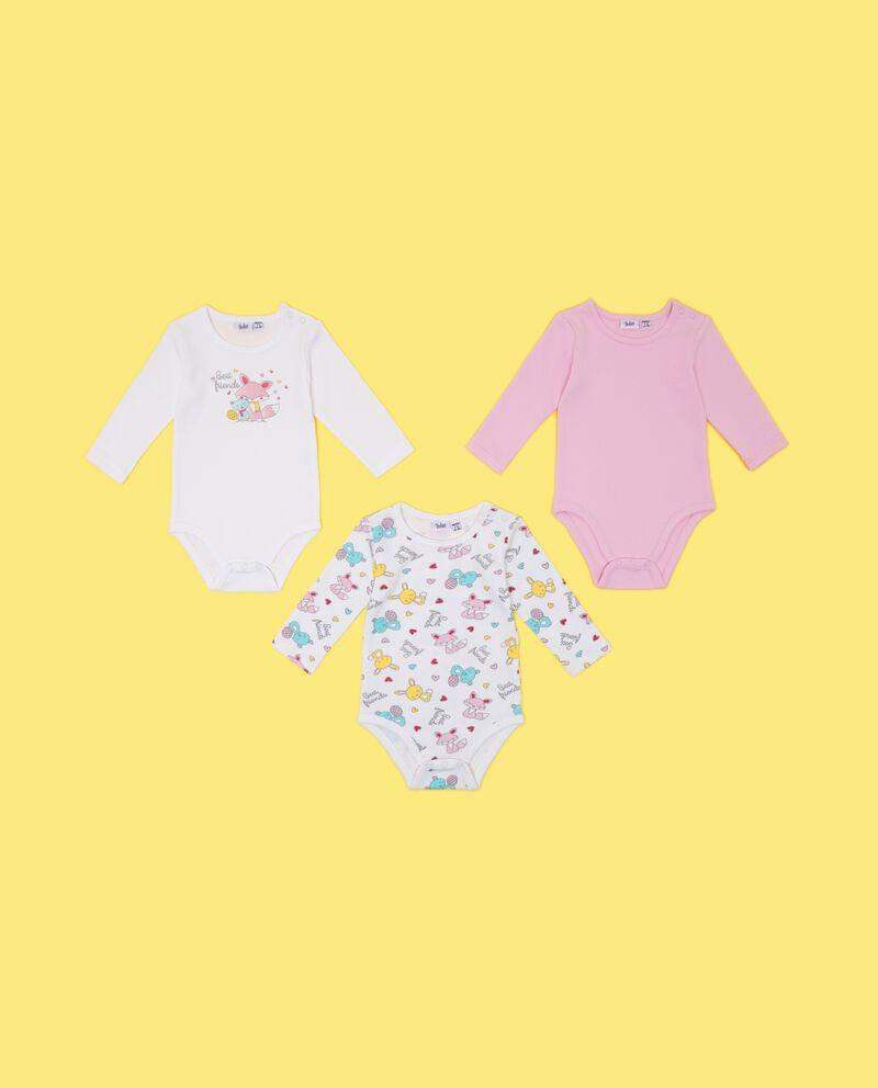 Set body puro cotone maniche lunghe neonata