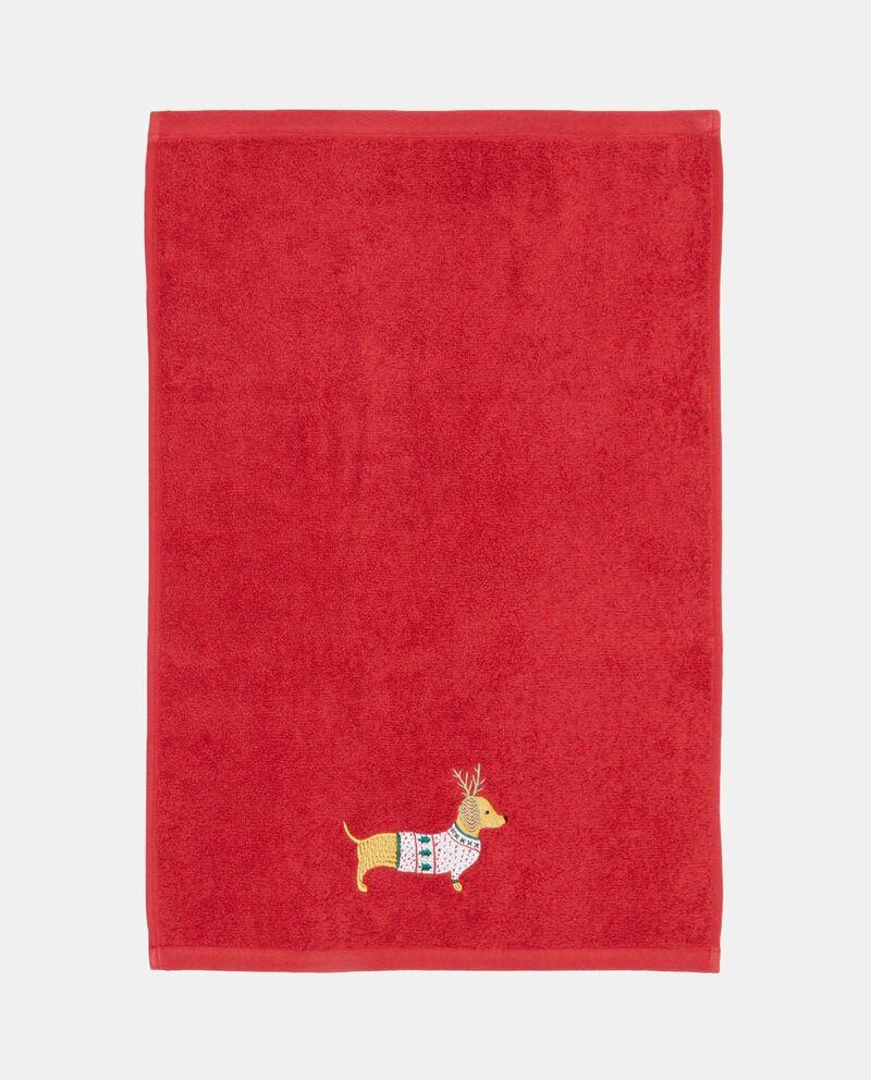 Set due asciugamani con ricamo