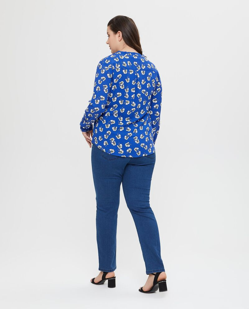 Camicia in pura viscosa a fantasia floreale