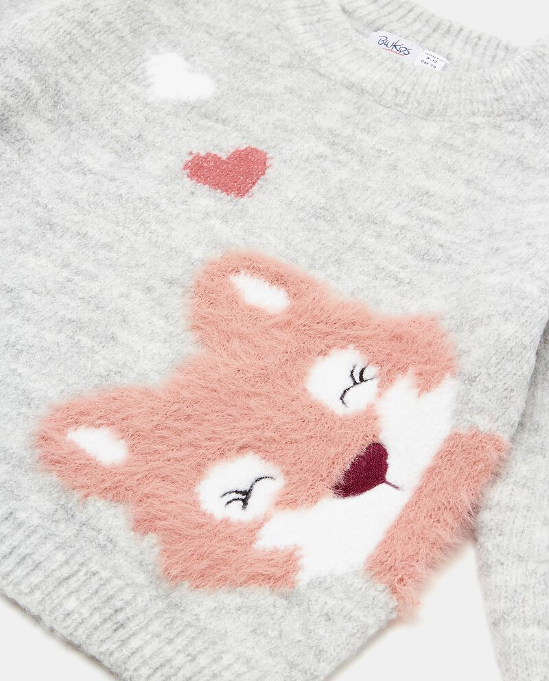 Maglioncino con volpe morbida disegnata neonata