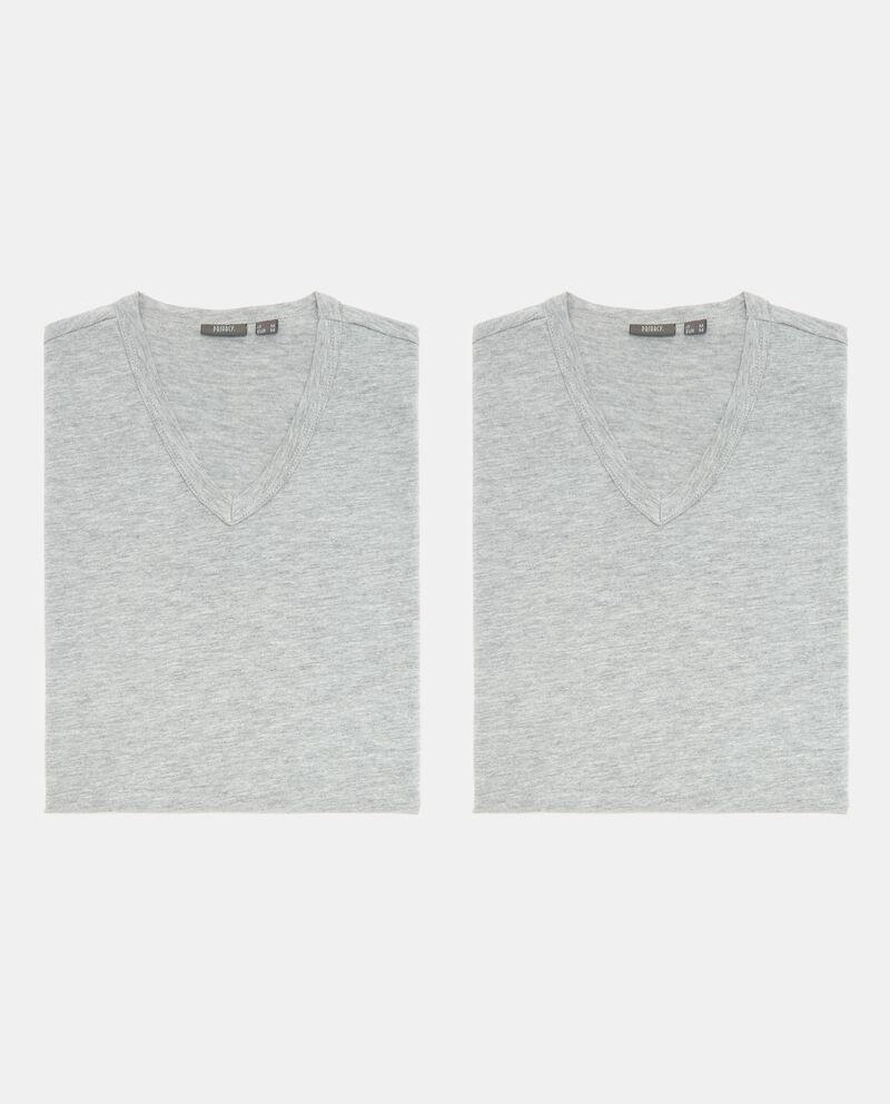 Bipack t-shirt intime con scollo a V uomo