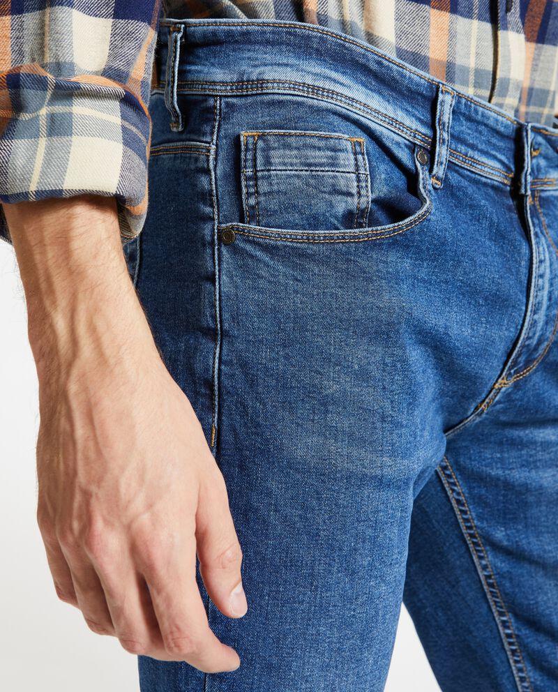Jeans skinny con cinque tasche uomo