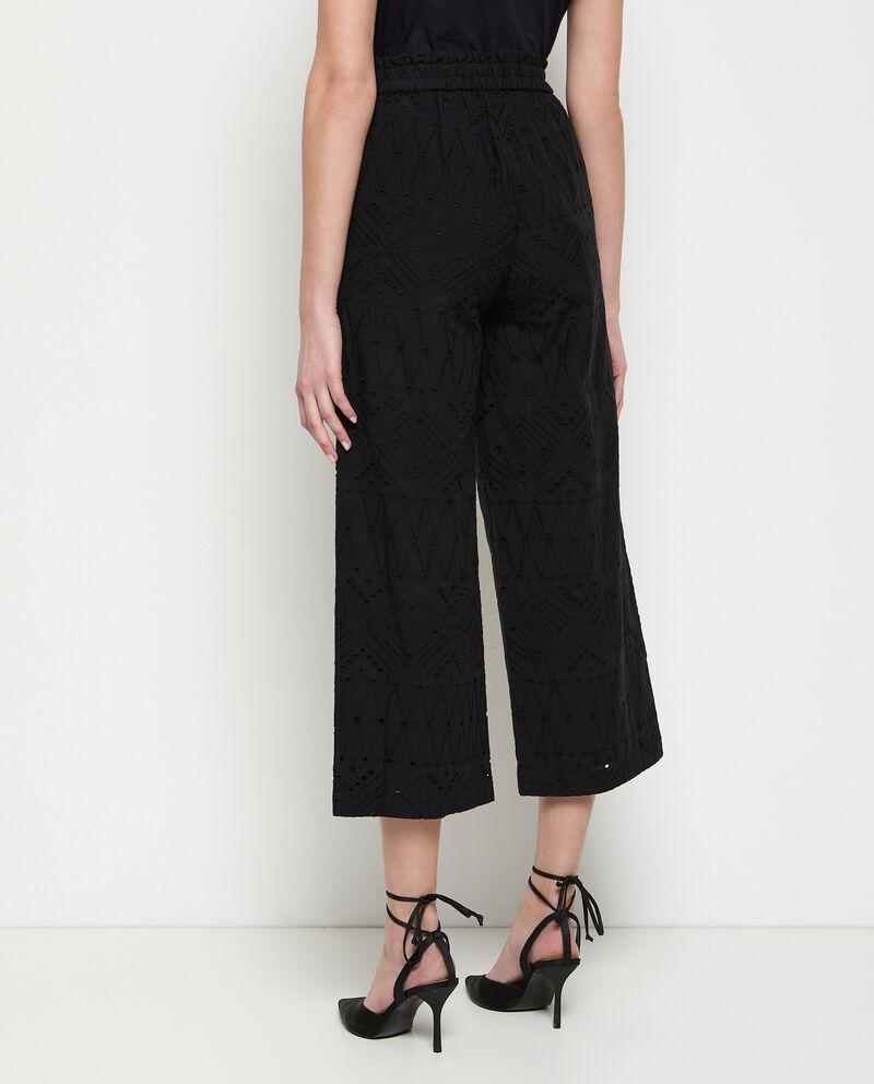 Pantaloni in puro cotone sangallo donna single tile 1