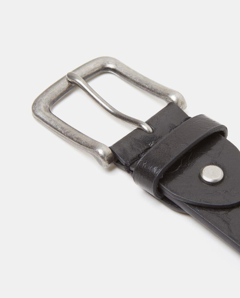 Cintura nera effetto vintage uomo