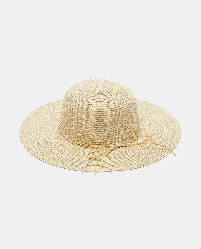 Cappello intrecciato con fiocchetto donna cover
