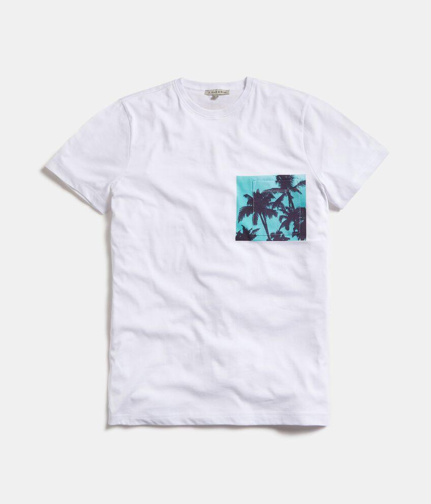 T-shirt in puro cotone con taschino uomo
