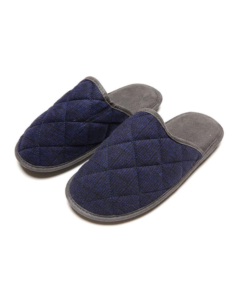 Pantofole impunturate fantasia a righe