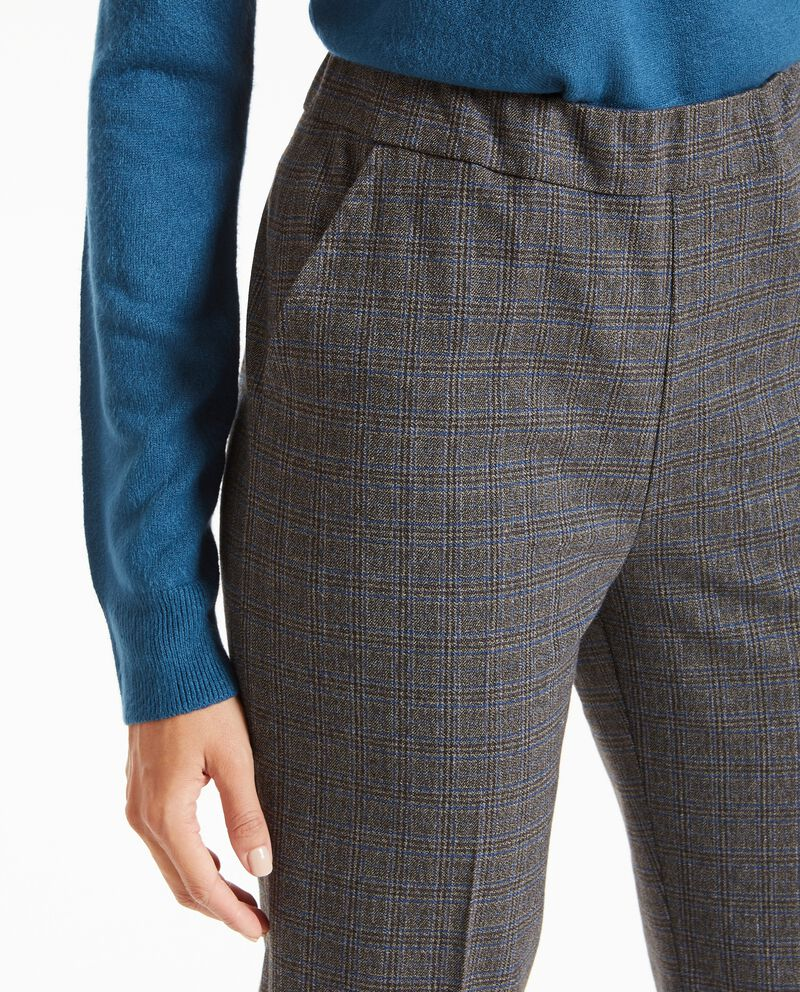 Pantaloni a quadri e vita alta donna