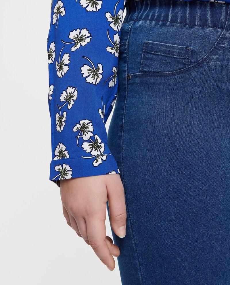 Camicia cotone florale linea comoda