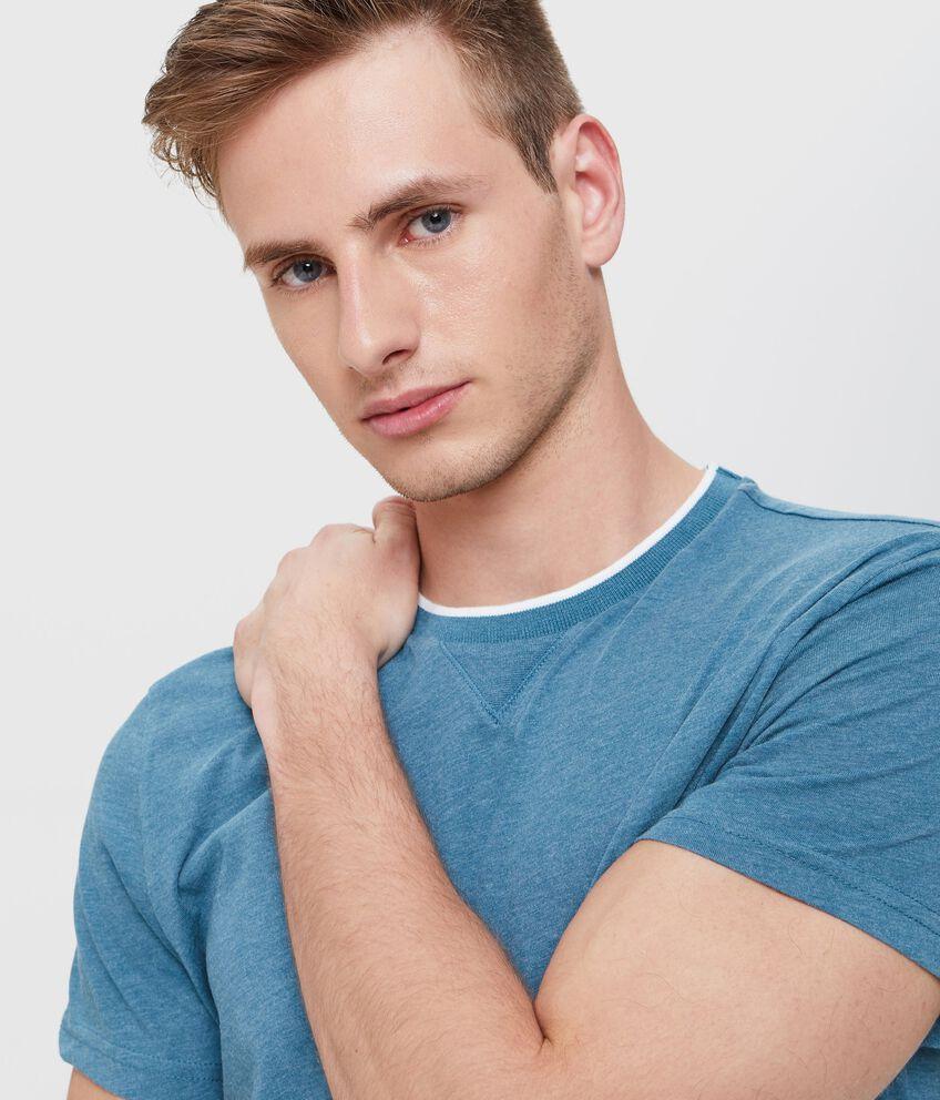 Pigiama t-shirt in puro cotone uomo con effetto mélange