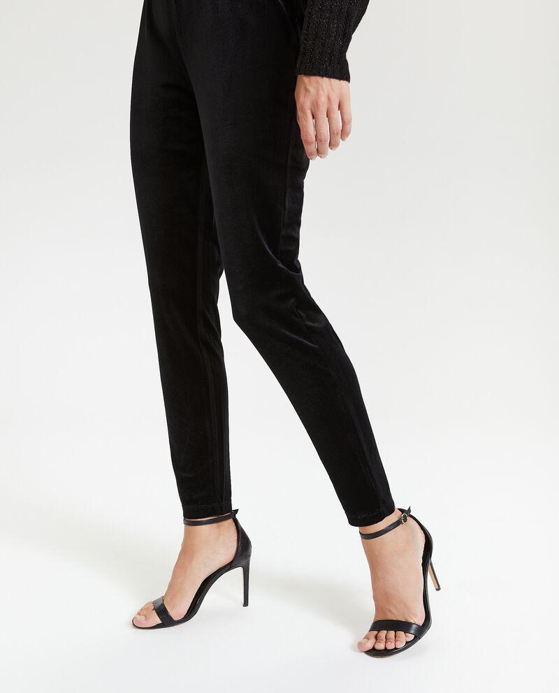 Leggings effetto velluto donna